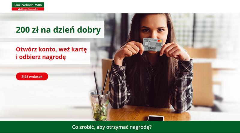 200 zł premii od Banku BZWBK za otwarcie konta i założenie karty kredytowej