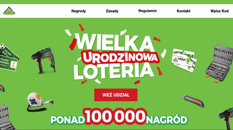 Wygraj ponad 100 tys. nagród w urodzinowej Loterii Leroy Merlin