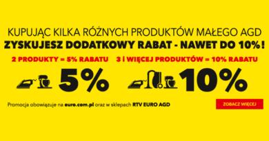 W RTV euro AGD możesz zdobyć dodatkowy rabat 10%