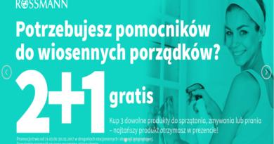 W drogerii Rossmann przy zakupie 2 produktów 3 dostajesz GRATIS