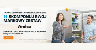 Skomponuj zestaw marki Amica i odbierz rabat w sklepie Saturn