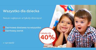 W sklepie eMAG wszystko dla dziecka kupisz do 40% taniej