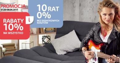 Promocja Rabat 10% i 10 rat 0% w salonach Agata