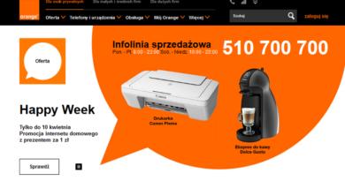 Promocja internetu domowego z prezentem za 1 zł w Orange