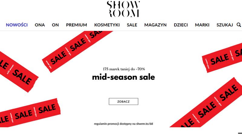MID-SEASON SALE do - 70% w Showroom