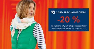 Specjalne ceny do -20% w sklepach Van Graaf