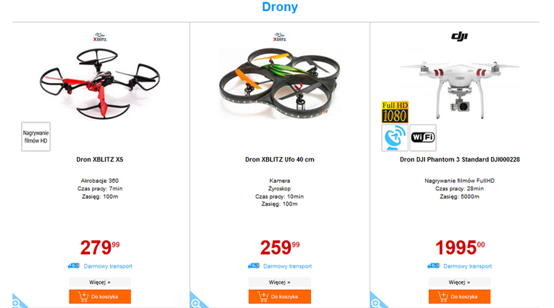 drony electro pomysłem na prezent