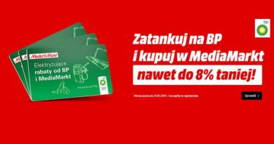 Zatankuj na BP i kupuj w Media Markt nawet do 8% taniej
