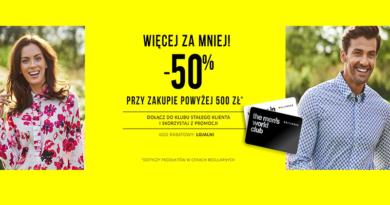 Rabaty do -50% w sklepie Wólczanka