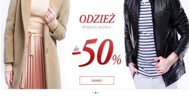 Rabaty do -50% na wybrane modele odzieży w Wittchen