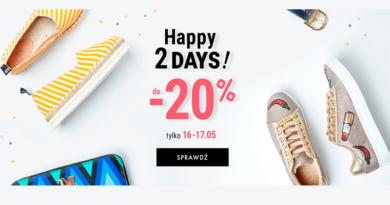 Happy 2 Days Rabat -20% na eobuwie.pl