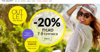 Rabat -20% online w sklepie Top Secret