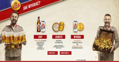 Loteria Tyskie Szukaj skarbów, wygraj złotą monetę lub piwo
