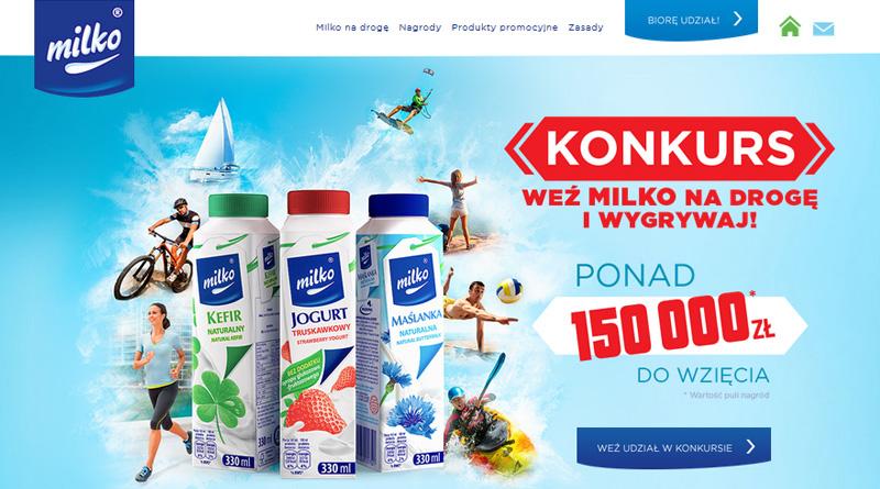Konkurs Milko Weź na drogę i wygrywaj