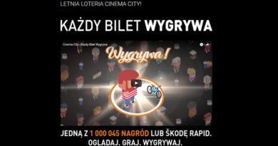Loteria Cinema City Każdy bilet wygrywa