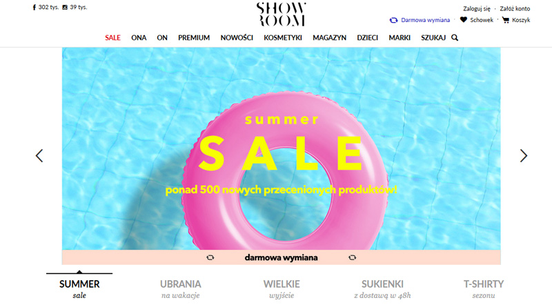 Summer sale w Showroom