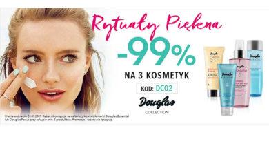 Rabat 99% na trzeci kosmetyk w Douglas