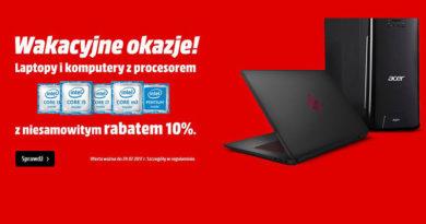 Rabat 10% na komputery i laptopy w Media Markt