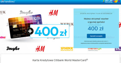 Załóż w Citibank kartę kredytową World MasterCard i odbierz 16000 punktów