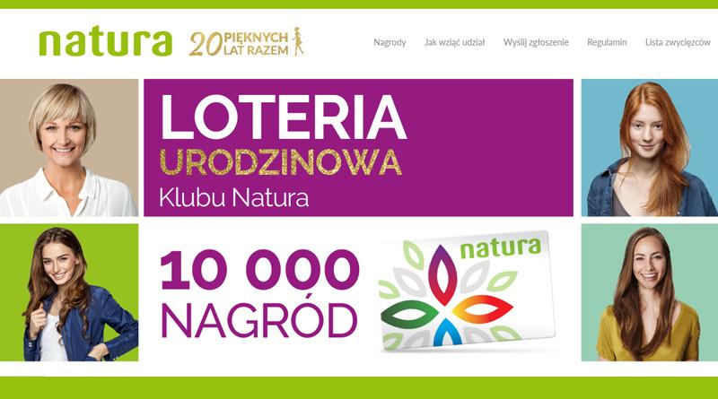 Loteria Natura Natura 20 pięknych lat razem