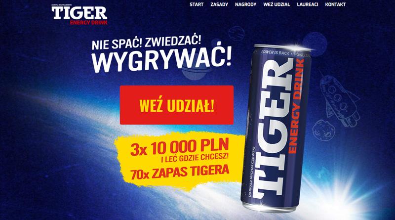 Loteria Tiger Wygraj 10 000 zł i leć gdzie chcesz!