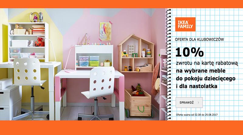 Otrzymaj 10% zwrotu na kartę rabatową w salonie Ikea