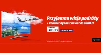 Kup TV i odbierz bilet Ryanair do 1000 zł w Media Markt