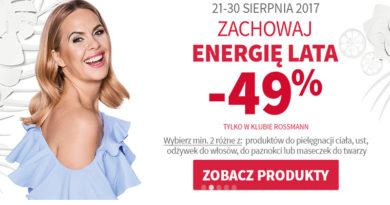 Zachowaj energię lata z rabatem -49% w Klubie Rossmann