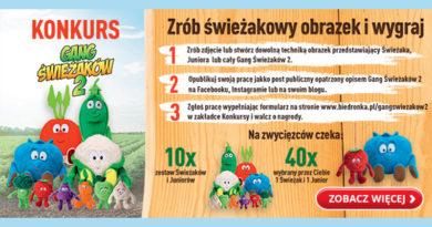 Konkurs Biedronka Gang Świeżaków 2 w Biedronce!