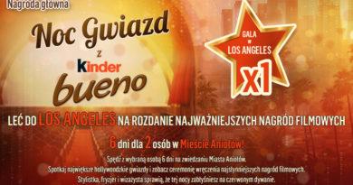 Loteria Kinder Bueno Noc gwiazd z Kinder Bueno