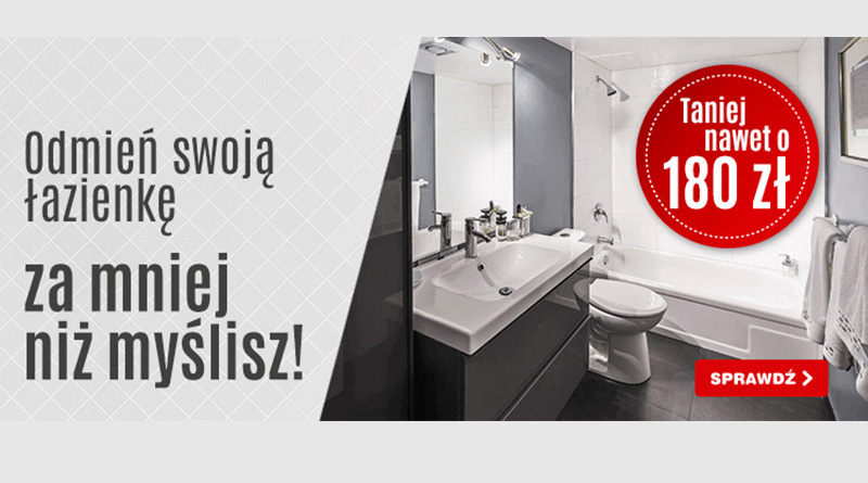 Łazienka tańsza nawet o 180 zł w OleOle!