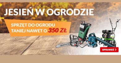 Sprzęt do ogrodu taniej nawet o 350 zł w OleOle!