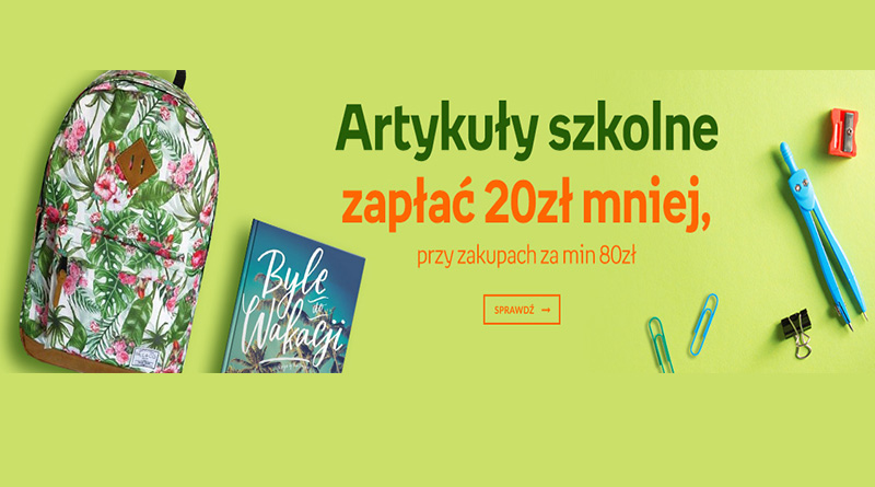 Kup artykuły szkolne i zapłać 20 zł mniej na Empik.com