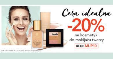 Rabat 20% na kosmetyki do makijażu twarzy w Douglas