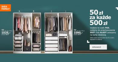 Ikea zwraca 50 zł za każde wydane 500 zł