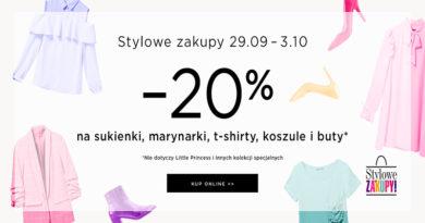 Stylowe zakupy z rabatem -20% w Mohito