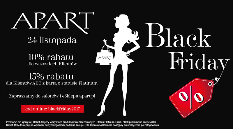 Black Friday w salonie Apart