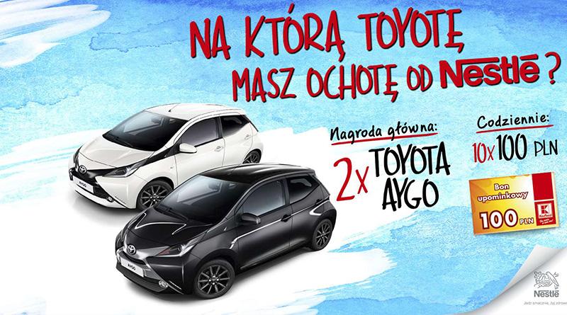 Loteria Kaufland Na którą Toyotę masz ochotę od Nestle?