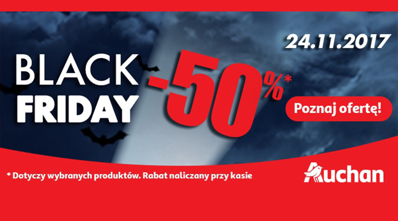 Black Friday z rabatami do -50% w Auchan