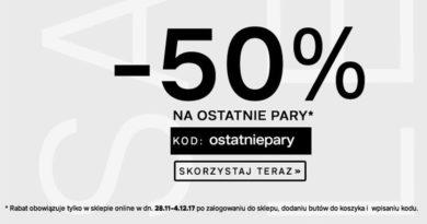 50% na ostatnie pary w Deichmann