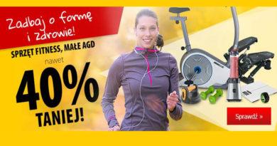 Sprzęt fitness i małe AGD taniej o 40% w Media Expert