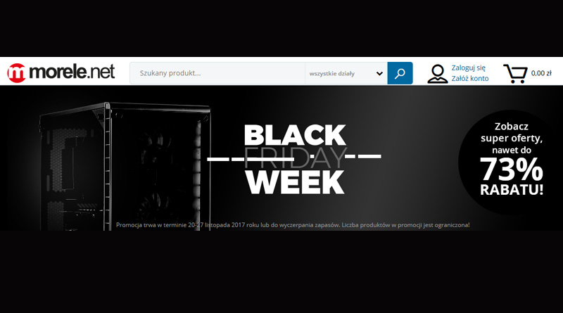 Black Week do 73% rabatu na morele.net
