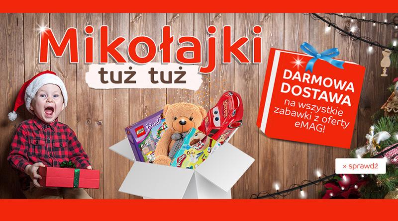 Darmowa dostawa na zabawki z oferty eMag.pl