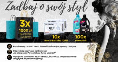Konkurs Tesco Zadbaj o swój styl z Perwoll