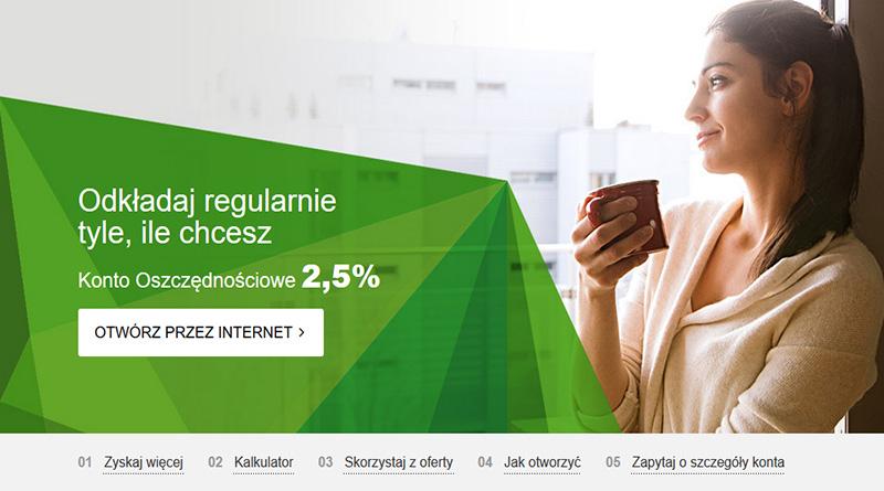 Konto oszczędnościowe GET IN BANK z oprocentowaniem 2,5%