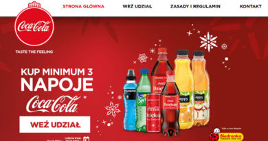 Loteria Biedronka Prezenty od Coca-Cola