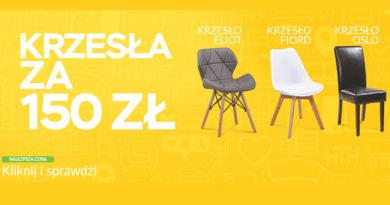 Kup krzesła za 150 zł w sklepie Abra Meble