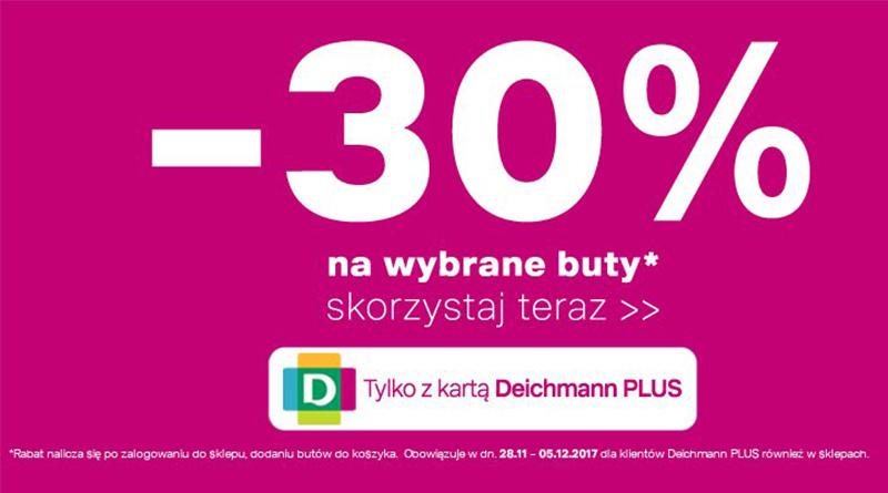 Rabat 30% na wybrane buty w Deichmann