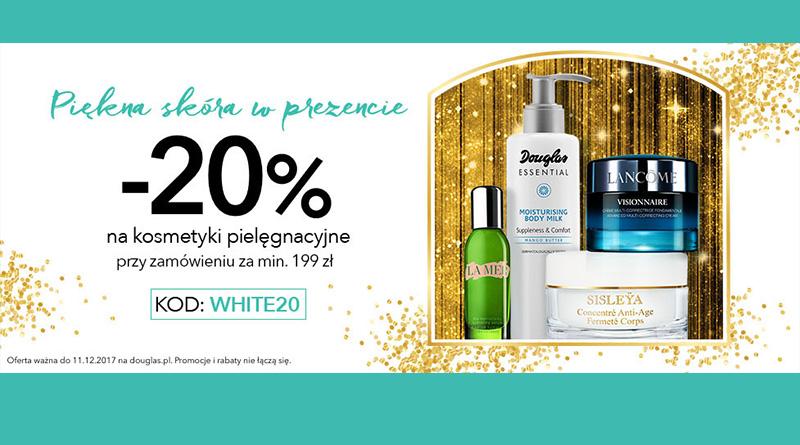 Rabat 20% na kosmetyki pielęgnacyjne w Douglas