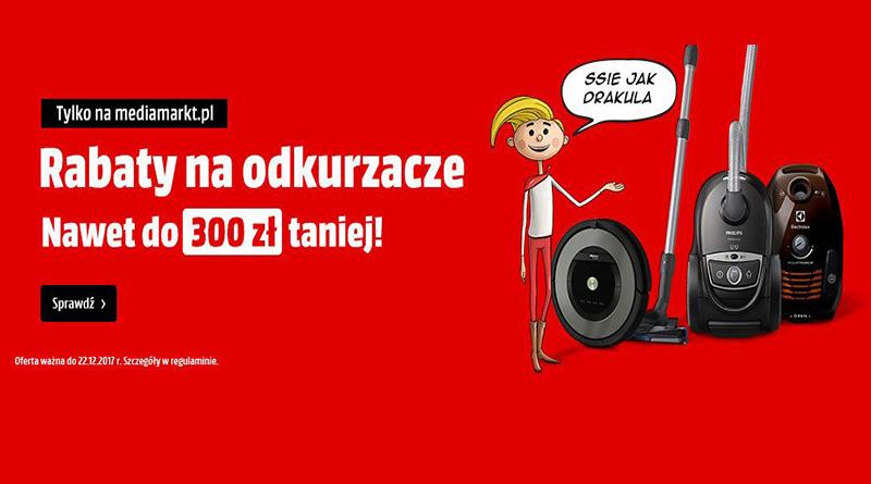 Rabaty na odkurzacze do 300 zł taniej w Media Markt